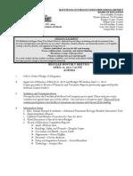 Mattituck-Cutchogue school board meeting agenda, April 18, 2013