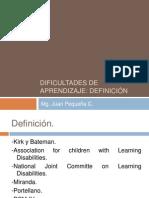 definición de dificultades de aprendizaje