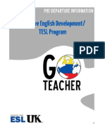 UK Go Teacher Ecuador Pre-Departure Information
