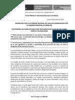 BOLETÍN DE PRENSA N° 036-2013