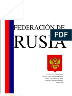 Federación de Rusia ante la Crisis Financiera