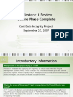 2.11 Milestone Review - Phase 1