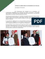 Congreso de La Republica Condecora a Estudiantes de Paccha