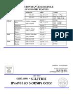 Jodo Mission Bulletin - May 2013