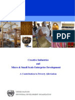 Creative Industries and Micro & Small Scale Enterprise Development
