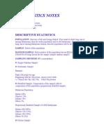 Biostatistics Notes
