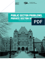 Public Sector Problems, Private Sector Solutions