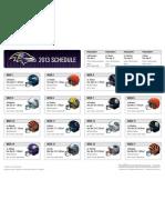 2013 Ravens Schedule