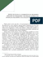 ZENÃO DE ELEIA E O EXERCÍCIO DA FILOSOFIA