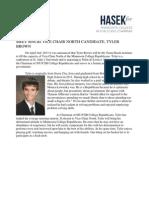 MEET TEAM HASEK'S PICK FOR VCN, TYLER BROWN