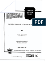 Teutoberg Wald, 9 a.d. - Strategic Implications