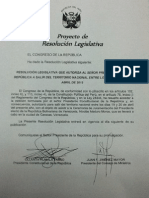 Resolución del viaje de Humala a Venezuela