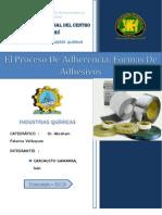 Informe El Proceso de Adherencia y Formas de Adhesivos