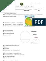 Evaluacion Unidad Cero Continentes, Oceanos y Zonas Climaticas