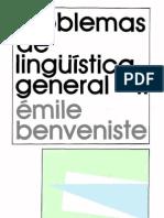 Benveniste-Problemas de Linguistica General