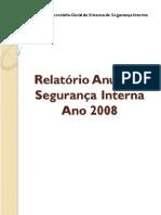 Relatório Anual de Segurança Interna_Ano 2008