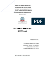 Principios Administrativos TEORIA de SISTEMAS