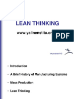 History of Manufacturing Systems and Lean Thinking