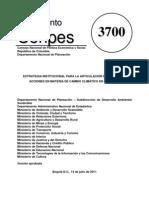 Conpes3700 - 2011 Estrategia articulación políticas cambio climático[1]