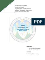 Sistema Bancario Nac. y Grupos Financieros