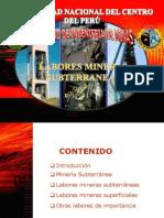 Labores mineras subterraneas