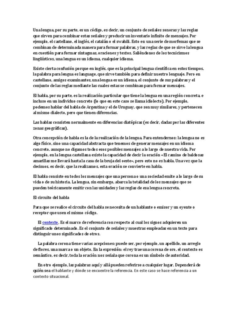Circuito Del Habla : Charla de español lengua y habla karla
