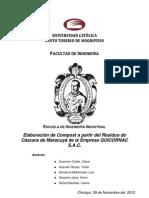 Elaboración de Compost a partir del Residuo deCáscara de Maracuyá de la Empresa QUICORNAC S.A.C