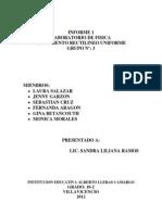 Informe 1 Movimiento Rectilineo Uniforme