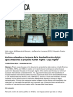 e91 Essay Archivos Visuales en La Epoca de La Desclasificacion Digital Aproximaciones Al Proyecto Human Rights Copy Rights