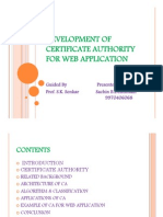 Development of Certificate Authority for Web Application
