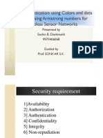 User Authentication Using Colors and Data Security Using Armstrong Numbers for Wireless Sensor Networks