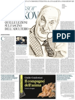Vladimir Nabokov, Insegnante Di Letteratura (the New York Review of Books) - La Repubblica 19.04.2013