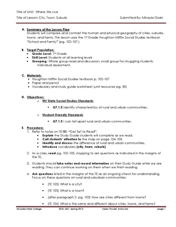 Edel453 Spring2013 Mikaylaozaki Unit 2 Geography Day 5 Lesson Plan