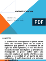 El Problema de Investigacion