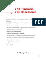 Espiritismo Os 10 Principais Tipos de Obsess Ores