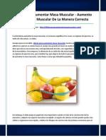 Dietas Pará Aumentar Masa Muscular