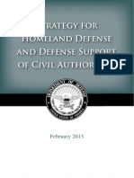 Pentagon domestic ops Homeland Defense Strategy 2.2013