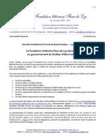 livre québecois - politique et législation, Fondation littéraire Fleur de Lys