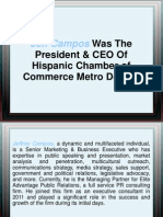 Jeff Campos Was The President & CEO Of Hispanic Chamber of Commerce Metro Denver