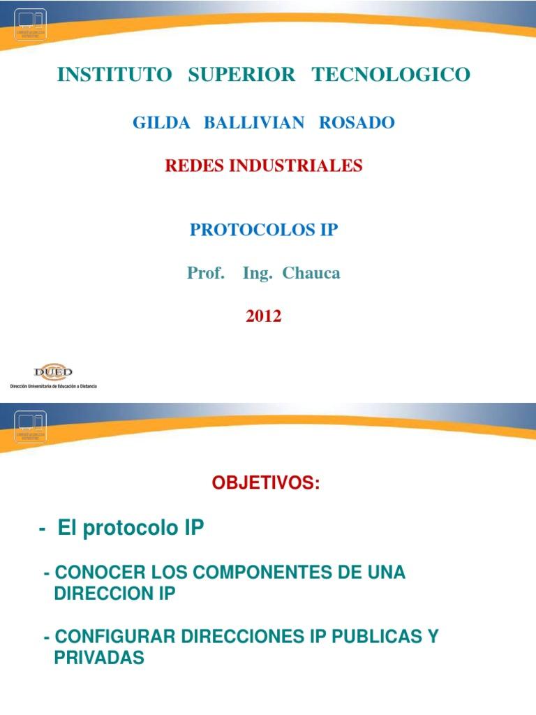Redes Indus Protocolos IP