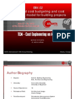 BIM.02 Integrated Cost Estimating Model for Bldg Projects