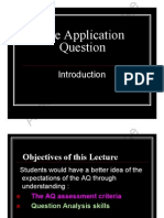 JC1 AQ Lecture 2011
