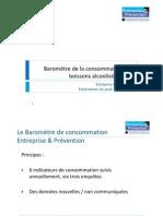 Baromètre 2013 de la consommation des boissons alcoolises - Entreprise & Prévention