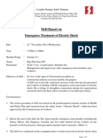 Drill Report on Emergency Treatment of Electric Shock Lsjv