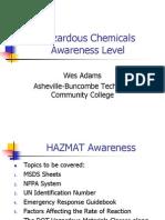 Hazardous Chemicals Awareness Level
