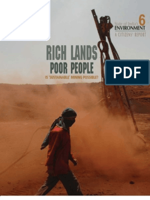State of india's Environment, A Citizens Report: Rich Lands Poor