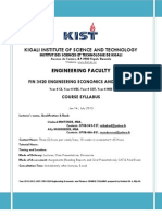 KIST-FIN 3420-Course Syllabus Final April 2013