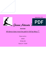 Dance Dues May 1