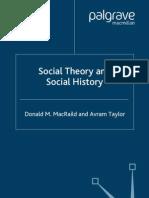 Social Theory and Social History