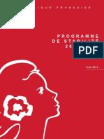 Programme de Stabilité 2013-2017